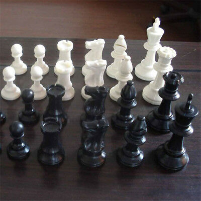 Chess Pieces Set Chessmen Collection Game Gift vintage Plastic + Free Shipping