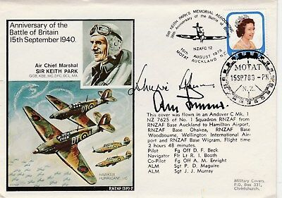 Battle of Britain Keith  Park Rossbach cover  signed Johnnie Johnson + Galland
