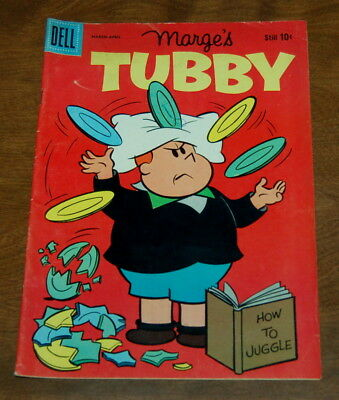 Marge's Tubby #39 How To Juggle Cover Little Lulu Dell Comic 1960 Silver Age VG+