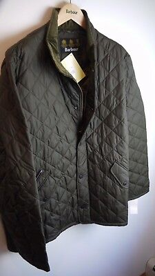 Barbour Men's Chelsea Sports Quilt Jacket, Olive Green, XXL, New With Tags