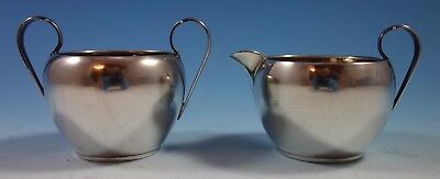 Georgian Colonial by Wallace Sterling Silver Sugar and Creamer Set 2pc (#1839)
