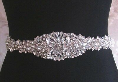 "Wedding Belt, Bridal Sash Belt- Crystal Sash Belt = 17"" long"