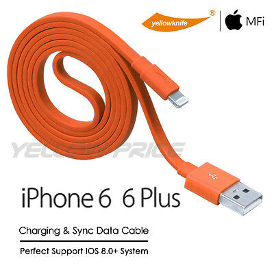 MFi Certified Lightning Charge Data Sync Cable APPLE iPhone 6 Plus iPad 6 Mini 3