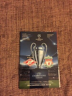 Spartak Moscow v Liverpool Official Programme 26/9/2017