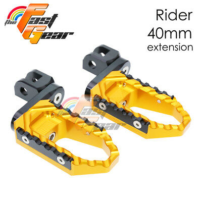 Multi Step Gold 40mm Tour Front Foot Pegs Fit Kawasaki ZR 750 Zephyr 1991 +