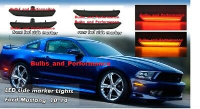 2010 2011 2012 2013 2014 Ford Mustang Smoked LED Side Marker Front & Rear Set