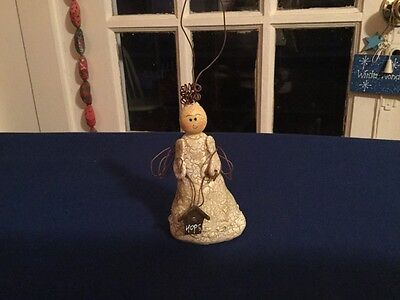 """Angel Christmas Ornament  with """"Hope"""" sign"""