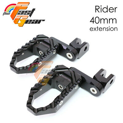 Multi Step Black 40mm Tour Front Foot Pegs Fit Buell M2 Cyclone All year