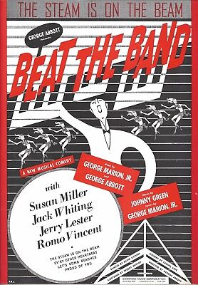 "Jack Whiting ""BEAT THE BAND"" Susan Miller / George Abbott 1942 FLOP Sheet Music"