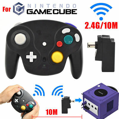 1x/2x Wired Wireless Shock Joypad Game Stick Pad Controller for Wii Gamecube NGC