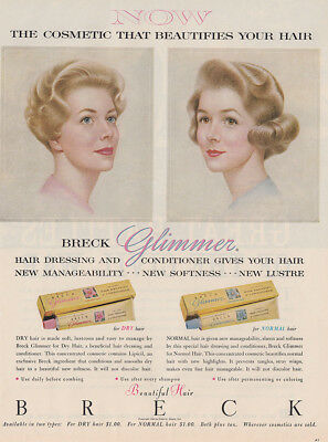 1961 Breck: Cosmetic That Beautifies Your Hair (30201) Print Ad