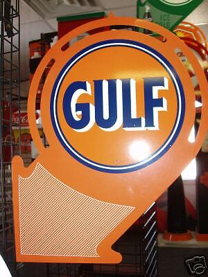 1930S 1940S Gulf Oil  Arrow Style Advertising Sign
