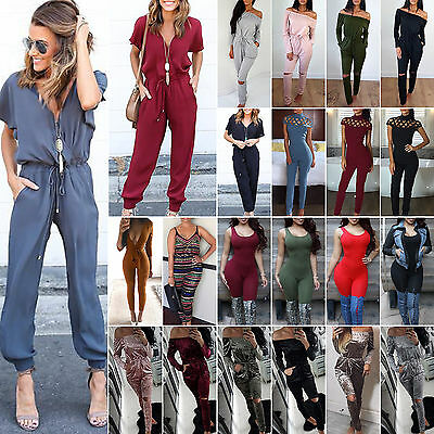 Women's Jumpsuit One Piece Overall Clubwear Party Playsuit Pants Romper Trousers