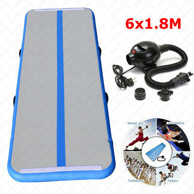 6M 20ft Air Tumbling Track Gymnastics Cheerleading Inflatable Mat Inflatable Gym