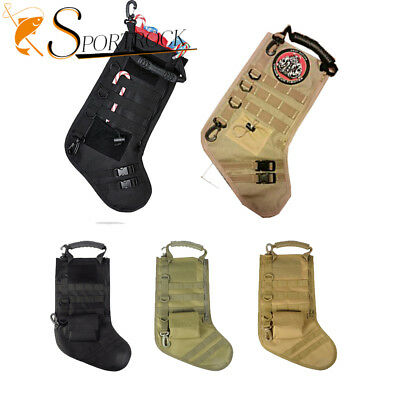 Molle Christmas Gift Stocking Sock Portage Tactical Combat Pouch Bag Sleeve Sack