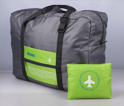 Travel Big Size Foldable Luggage Bag Clothes Storage Carry-On Duffle Bag Green