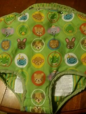 Baby Einstein Exersaucer Fabric Seat Cover Animals Replacement Part Green