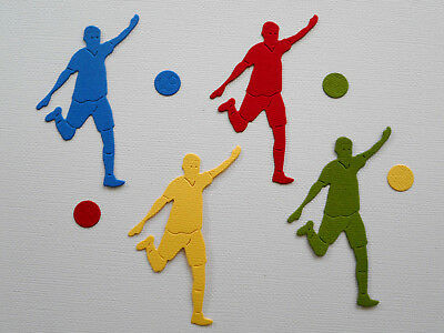 Soccer Player Man Paper Die Cuts x 2 Sets Scrapbooking Embellishment - Not a Die