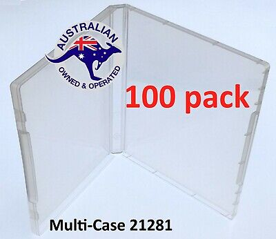100 Super Clear Plastic DVD Stamp Storage Poly Cases