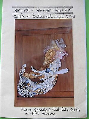 """"""" GRACIE """" QUILTED WALL ANGEL CLOTH DOLL PATTERN... by MAXINE GALLAGHER"""