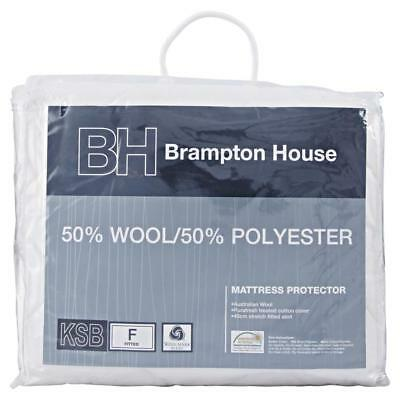 NEW Brampton House 50% Wool 50% Polyester Mattress Protector By Spotlight