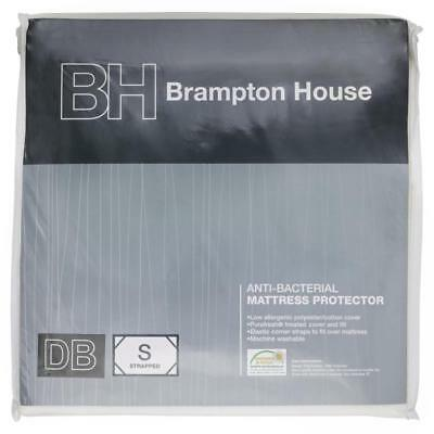 NEW Brampton House Anti-bacterial Strapped Mattress Protector By Spotlight
