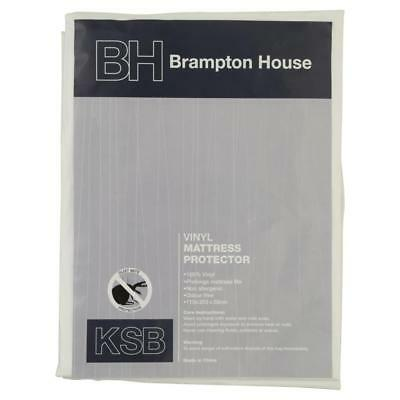 NEW Brampton House Vinyl Mattress Protector By Spotlight