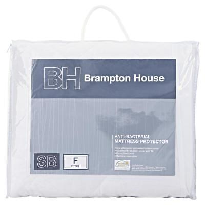 NEW Brampton House Anti-bacterial Fitted Mattress Protector By Spotlight