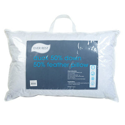 NEW Ever Rest Duck 50% Down 50% Feather Pillow By Spotlight