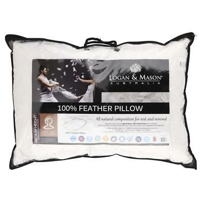 NEW Logan & Mason 100% Feather Pillow By Spotlight
