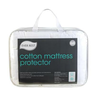 NEW Ever Rest Cotton Mattress Protector By Spotlight