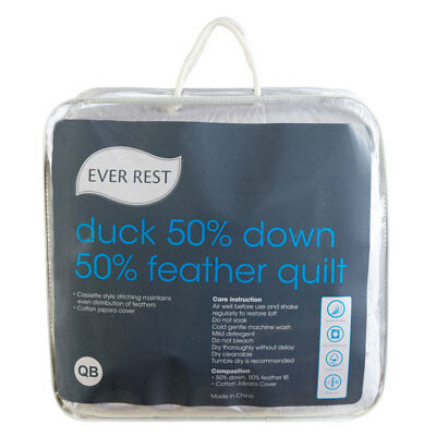 NEW Ever Rest 50/50 Duck Down Feather Quilt By Spotlight