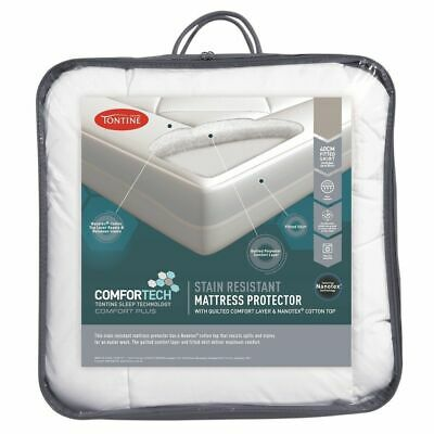 NEW Tontine I Love A Stain Resistant Mattress Protector By Spotlight
