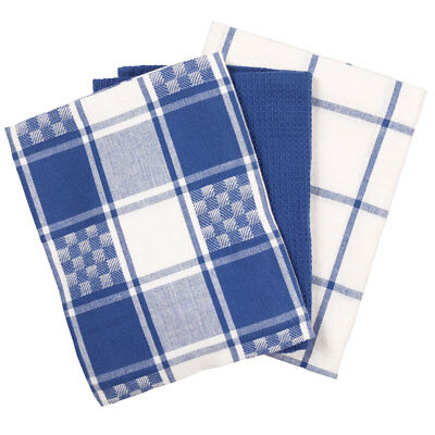 NEW Mode Cotton Check Tea Towel 3 Pack By Spotlight