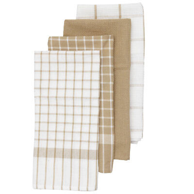 NEW Basic Check Tea Towel 4 Pack By Spotlight