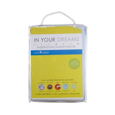 NEW In Your Dreams Large Fitted Cot Mattress Protector By Spotlight