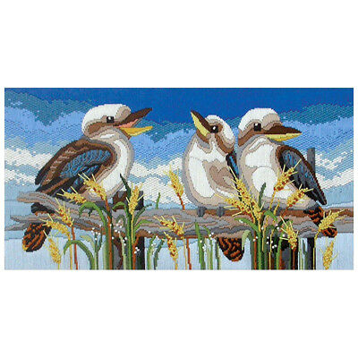 NEW Country Threads Kookaburra Line-Up Long Stitch Kit By Spotlight