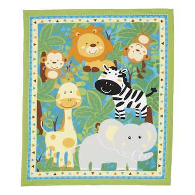 NEW Sugar & Spice Baby Jungle Panel By Spotlight
