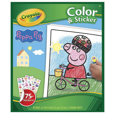 NEW Crayola Peppa Pig Color N Sticker Book By Spotlight