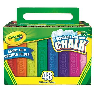 NEW Crayola 48 Pack Sidewalk Chalk By Spotlight