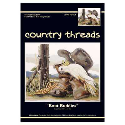 NEW Country Threads Boot Buddies Cross Stitch By Spotlight