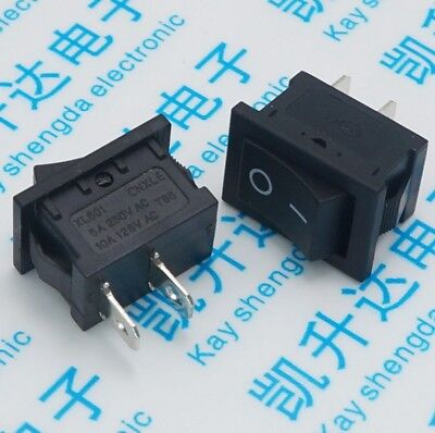 20pcs Ship type switch 15mm*21mm power switch, small switch 2 feet 250V 6A AC