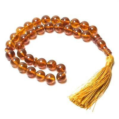 Natural Baltic Amber Islamic Prayer Beads Rosary Tesbih Luxamber مسبح...