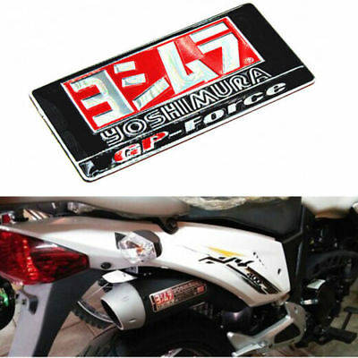 1X 3D Sticker Aluminium Heat-resistant Motorcycle Exhaust Pipes Decal Yoshimura