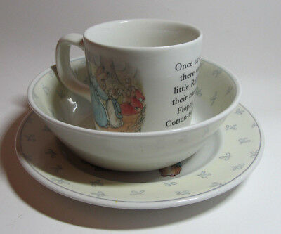 Peter Rabbit Wedgewood mug plate & bowl set new