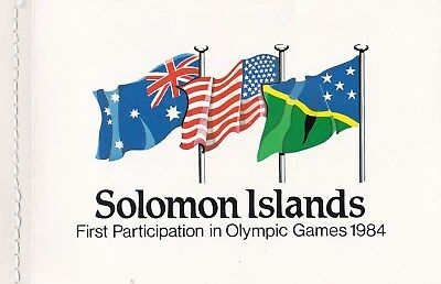 Solomon Islands 1984 First Olympic Games Mint Booklet