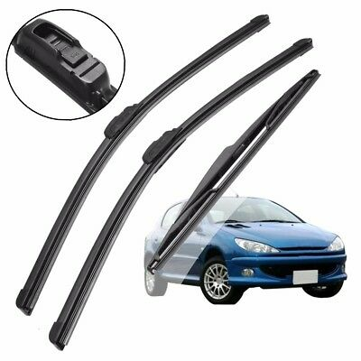 3x FOR Peugeot 206 1.4 ACP Front/Rear Wiper Blades 'Trade Price' Windscreen XE8