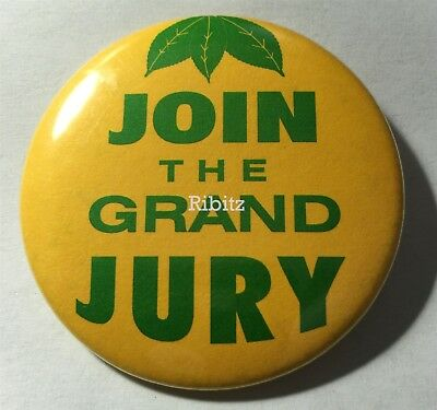 Vintage button badge PIN - JOIN THE GRAND JURY -