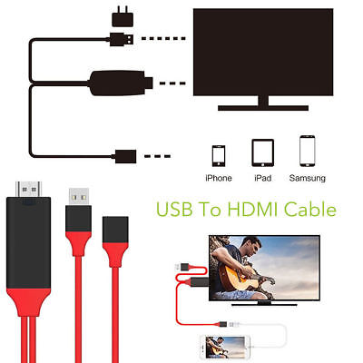 1080P HDMI AV Adapter Cable For Connect Samsung Note 8 S8 S7 iPhone 8 7 to HD TV