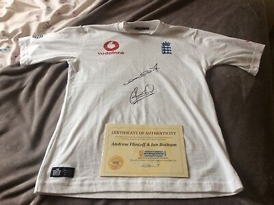 signed England cricket top Ian Botham and Andrew flintoff